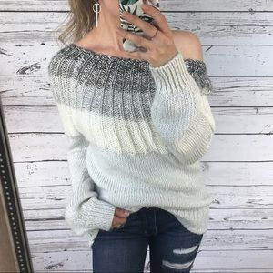Maurice's Grey Soft Chunky Knit Wool Sweater